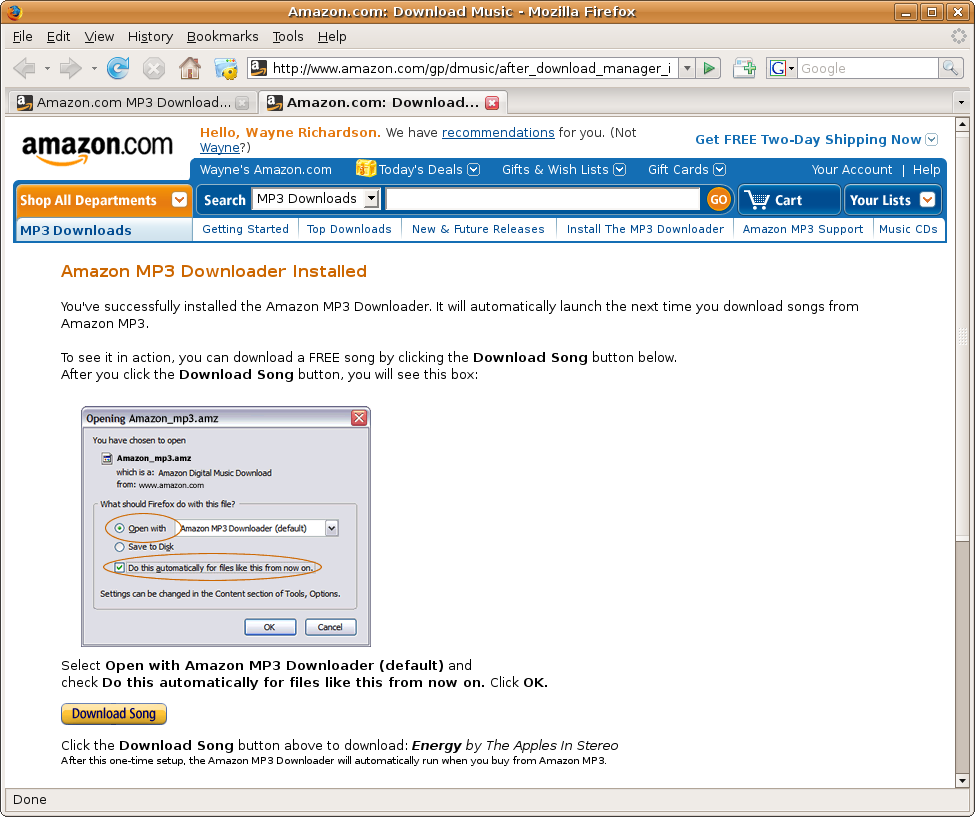 Review: Amazon MP3 Downloader for Linux | fsckin w/ linux